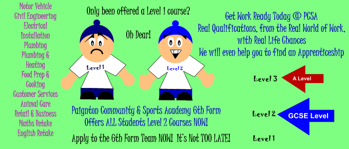 New 6th Form Courses & Opportunities for September 2014