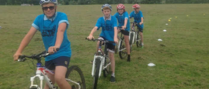 Devon School Games Grass Track Cycling