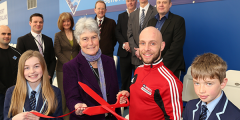 Peter Waterfield, Olympic Silver Medalist opens new Viewing Area