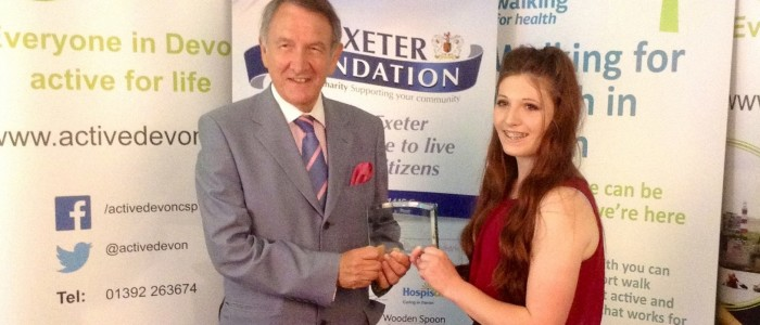 Year 11 Student Nareece Ford takes Devon's Young Volunteer of the Year