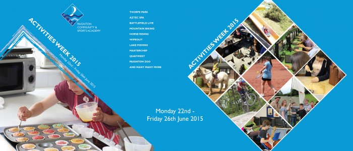 Activities Week: Monday 22nd – Friday 26th June 2015