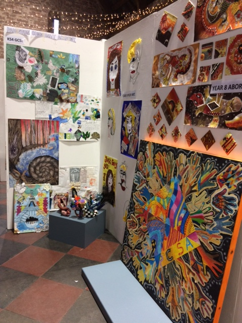 Exhibition Booth In Spanish : Art students exhibit at spanish barn
