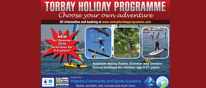 Torbay Summer Holiday Programme – available to book now!