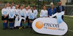 Encon Insulation Sponsor Year 8 Girls' Football Team