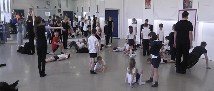 BTEC Dance Students Perform and Teach Primary Children