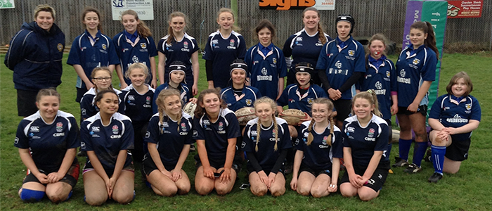Girls compete in Rugby Festival