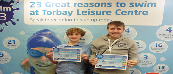 Year 9 Students achieve National Award in Competitive Swimming