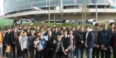 Students watch England at Wembley