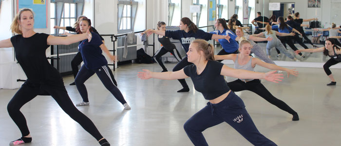 Professional Dance Workshops for BTEC Students