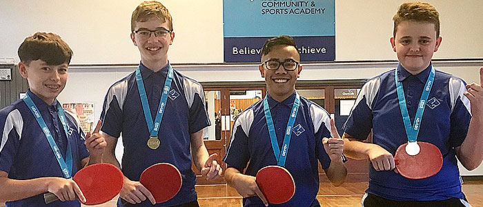 U16 Boys Crowned County Table Tennis Champions