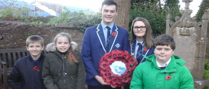 Academy Represented at Remembrance Service