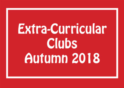 Extra-curricular clubs finalised