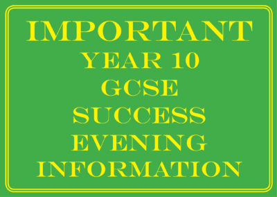 Year 10 Success Evening – Information