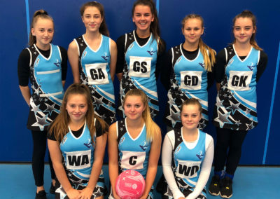 Year 9 netball team play in Central Venue League
