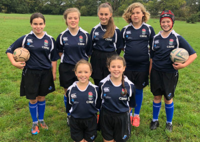 Girls from Years 7 and 8 take part in U13 RFU Rugby Development Day