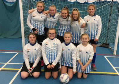 U13 girls compete in South Devon Futsal tournament