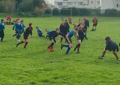 Year 7 rubgy boys at South Devon tournament