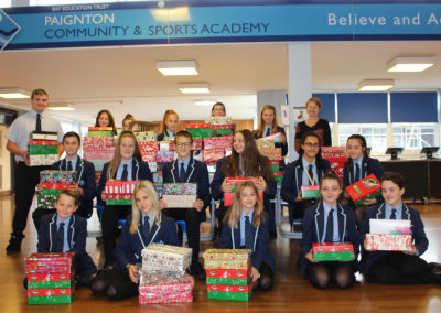 Phenomenal effort by Key Stage 3 students in this year's Christmas shoebox appeal!