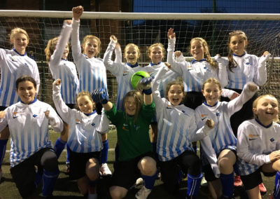 It's a win for the Year 7 girls' football team