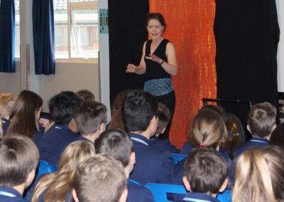 Storyteller visits Academy