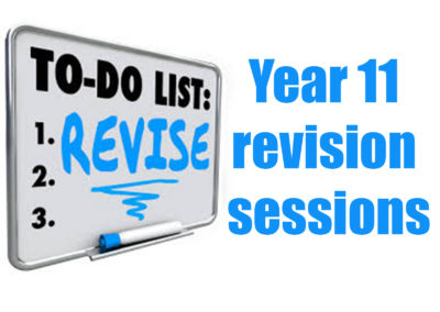 Easter revision sessions for Year 11