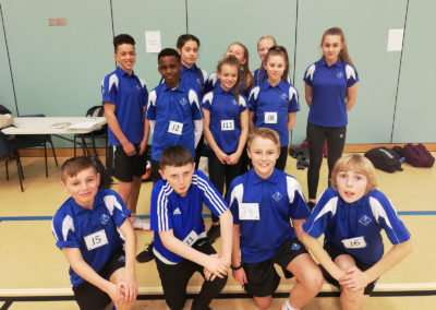 Students take part in athletics event in Plymouth