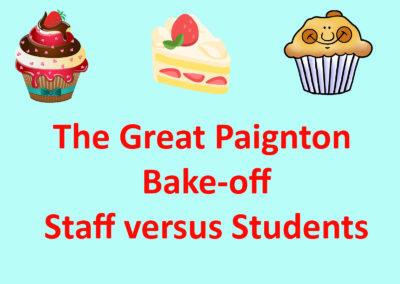 Bake-off – staff versus students