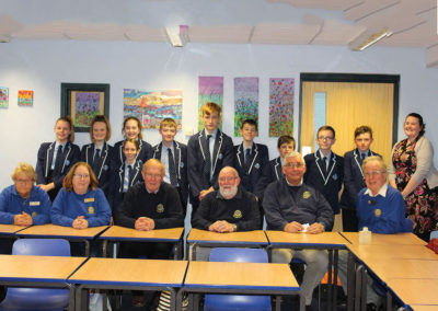 Dawlish Water Rotary Club visit Paignton Academy's Interact Club