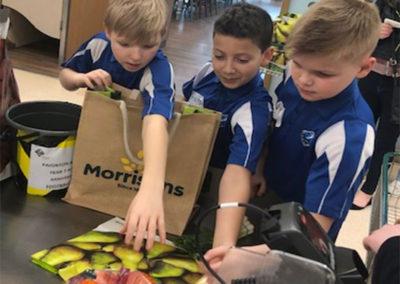 Key Stage 3 and 4 students shine in bag packing bonanza