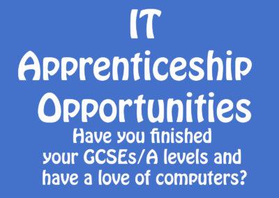 IT Apprenticeship Opportunities