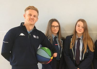 Paralympic Athlete Visits Academy