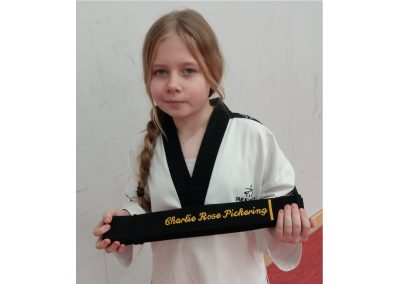 Charlie is a Black Belt!