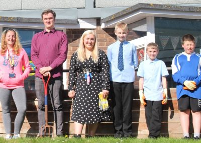 Students and Staff Create Wellbeing Garden